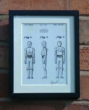 USA Patent Drawing STAR WARS FILM C-3PO ROBOT DROID  SCI FI MOUNTED PRINT 1979