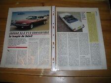 ESSAI / CONTACT.......JAGUAR XJ-S V 12 CONVERTBLE
