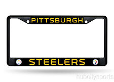 Pittsburgh Steelers Black Chrome Metal License Plate Cover Frame NEW!! NFL