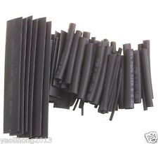 370PCS Size Black Color  Heat Shrinkable Tube Sleeving Wrap Wire Kit 2:1