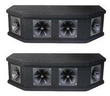 NEW (2) DJ Tweeter Speakers.Loaded 6 Piezo Horns..PA.Pro Audio Cabinets.PAIR.