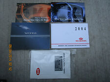 2004 - 04 KIA SEDONA USER OWNER MANUAL HANDBOOK GUIDE INFORMATION BOOK
