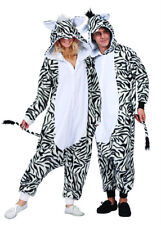 ADULT ZOE THE ZEBRA HORSE MADAGASCAR JUNLE MARTY ANIMAL PAJAMAS COSTUME JUMPSUIT