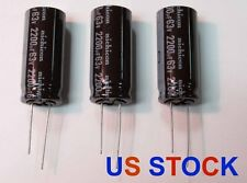 3 x Nichicon 2200uF, 63V, Capacitors, UPW1J222MHD, US Stock, Free Shipping