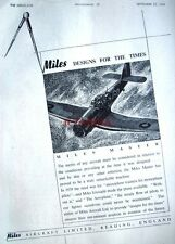 1944 Miles 'MASTER' WW2 Trainer Airplane Advert - Original Wartime Print Ad