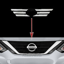 2016 2017 Nissan Altima CHROME Grille Overlays Front Grill Vent Bar Trim Covers