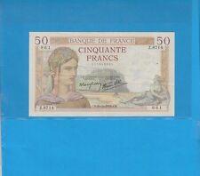 50 Francs Cérès du 20-10-1938   Z.8714