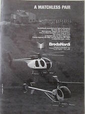 7/1980 PUB BREDA NARDI MILANO NH 300C NH 500D HELICOPTER HELICOPTERE ORIGINAL AD