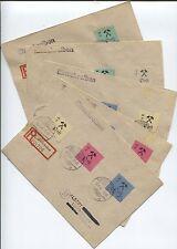 Großräschen 5 R-Briefe mit zusammen 13-24 A Ankunftsstempel (B04077)
