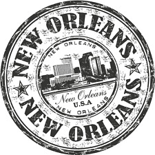 """New Orleans City USA United States Travel Car Bumper Sticker Decal 5"""" x 5"""""""