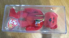 1999 TY Beanie Bear Osito Mexican Mexico With Stand & Case Retired