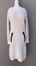 NWT Made For Me to Look Amazing Fuzzy White Sweater Dress Women's Size Medium