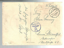 1941 Germany Dachau Concentration Camp Waffen SS Feldpost postcard Easter Cover