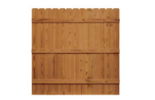 New 6 ft. H x 6 ft. W Pressure-Treated Cedar-Tone Moulded Fence Kit