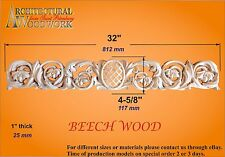 """Hand Carved Solid Wood Horizont Decor for top of doors, windows,. Over 32"""" long"""