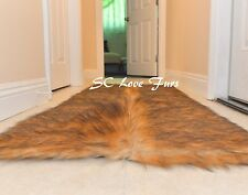 "36 x 58""  Rectangle Faux Fur Area Rug Grizzly Bearskin Designer Rug Plush"