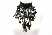 NWOT. Brunello Cucinelli Sequin Waterfall Beaded Appliqué Choker Collar Necklace