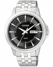 New Citizen Men's Dress Stainless Steel Bracelet Watch BF2011-51E