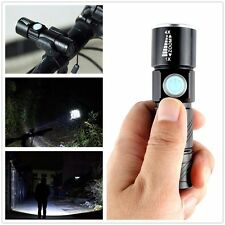 Rechargeable Q5 LED Tactical USB Flashlight Torch Zoom Lighting for Bike Camping