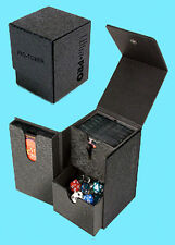 ULTRA PRO PRO-TOWER DECK BOX BLACK BOX 3 Compartment Game Card Dice Dual MTG