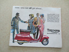 Original 1960s Triumph automatic T10 motorcycle brochure