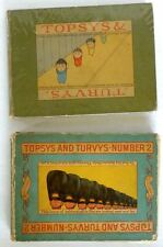 Peter Newell Topsy and Turvy Number 1 and 2  first editions 1893/94 Vintage Rare
