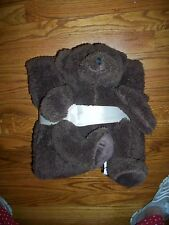 Kids Cozy Critters Animal Brown BEAR & Throw NWT