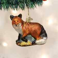 *Red Fox* [12189] Old World Christmas Glass Ornament - NEW