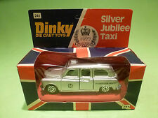 DINKY TOYS 241 SILVER JUBILEE TAXI - QUEEN 1977 - RARE SELTEN - GOOD IN BOX