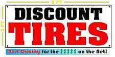 DISCOUNT TIRES Banner Sign NEW 4 Car Truck SUV Van Repair Tire Shop rims wheels