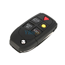 5-Button Filp Folding Auto Car Remote Key Fob Shell Case for VOLVO S60 S80 V70