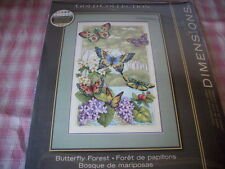 "Counted cross stitch kit, Butterfly Forest, Dimensions, #35223, 10"" x 16"""