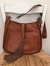 Colab By Christopher Kon Brown Saddle Cross body Handbag Genuine Leather NWT
