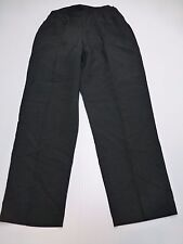 Blair Womens Size 16 Black Pleated Elastic Back Tummy Control Pants New