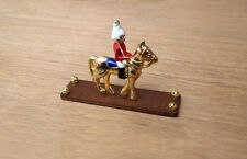 1/12 dolls house miniature Horse Guard Ornament Wood Stand Fireplace Table LGW