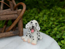 Miniature Dollhouse FAIRY GARDEN Accessories ~ Large Sitting Dalmatian Puppy Dog