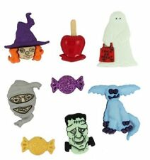 Jesse James Dress It Up Buttons Happy Haunting Halloween  #2991 Flat Rate Ship