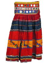 Long Gypsy Boho Skirt Handmade Vintage Banjara Indian Tribal Costume Clothing M