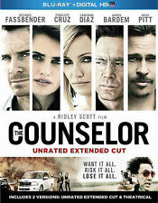 DVD: The Counselor (Unrated Extended Cut) [Blu-ray], Ridley Scott. Very Good Con
