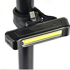New LED USB Rechargeable COB Front Rear Tail Light 6-Modes Lamp For Bike Bicycle