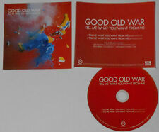 Good Old War  Tell Me What You Want From Me U.S. promo cd  hard-to-find