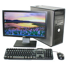 "Dell Desktop Computer Tower Windows 10 Pro Intel 3.0GHz 8GB 1TB 20"" Monitor"