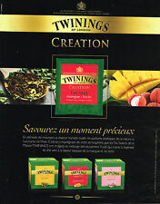 PUBLICITE ADVERTISING 104  2013   TWININGS  OF LONDON     thé