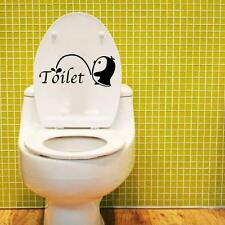 2016 DIY Bathroom Sticker Removable Mural Home Decal Decor For Toilet Black +