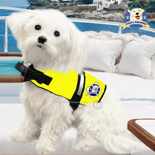 PAWS ABOARD Dog Life Jacket Water Safety Yellow Vest XX-Small XXS 2-6 lb NEW