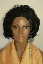 Fully hand braided lace front wig - Linda #1 in 6""