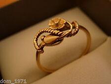14k 14ct Solid Rose Gold Unique Floral Ring. Size N 1.81g