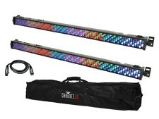 2 x QTX LED 1M Bar DLB100 RGB Uplighter Batten DJ Disco Light Effect Wall Washer