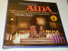 sealed 3 LP BOX AIDA georg SOLTI leontyne price JON VICKERS robert MERRILL rome