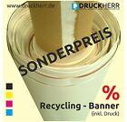 1,5x0,8m Werbebanner Werbeplane PVC-Plane Recycling-Banner, inkl. Druck & Ösen